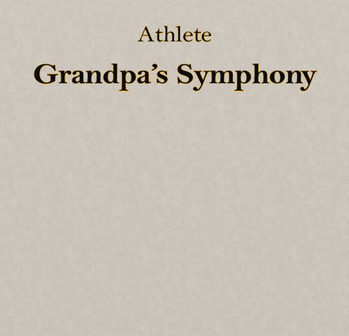 Athlete – Grandpa's Symphony (Music Video Treatment)