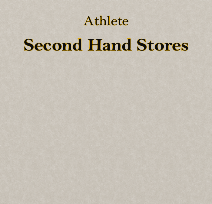 Athlete – Secondhand Stores (Music Video Treatment)